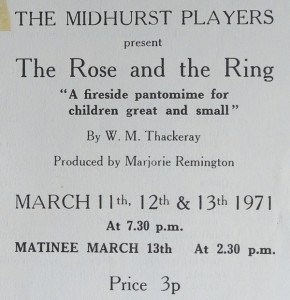 MP 1971 The Rose and the Ring - Programme